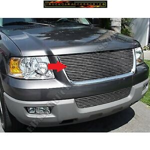 For 2003 2004 2005 2006 Ford Expedition Billet Grille Replacement 1pc Upper