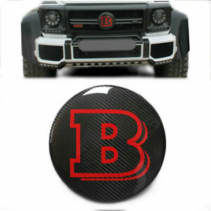 Mercedes benz G Wagon W463 Brabus Style Carbon Fiber Front Grille Badge Red