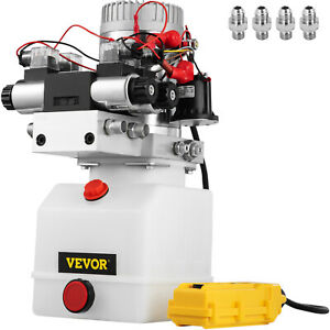 12v Dc Double Acting Double Solenoid Hydraulic Power Pack 4 5l Tank Zz004234