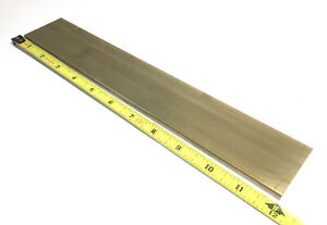 1 4 X 2 C360 Brass Flat Bar 12 Long Solid 250 Plate Mill Stock H02