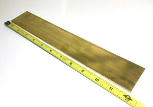 1 8 X 2 C360 Brass Flat Bar 12 Long Solid 125 Plate Mill Stock H02