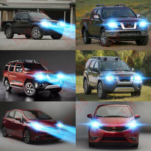 For Nissan Xterra Frontier Versa Note 2pc 8000k Ice Blue Led Headlight Bulbs
