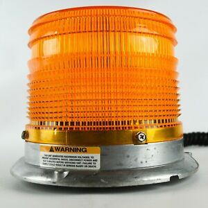 Ecco Yellow Strobe Magnetic Mount Warning Light Dome 6640