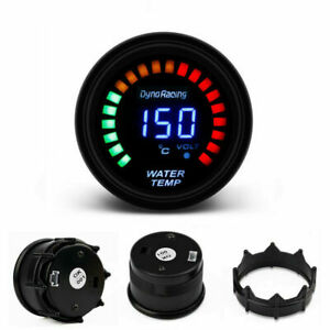 2 52mm Car Digital Analog Led Electronic Water Temp Temperature Gauge Smoke