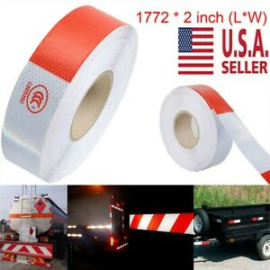 2 x150 Dot c2 Premium Reflective Red And White Conspicuity Tape Trailer 3 Pack