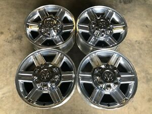 Set Of 4 17 Dodge Ram 2500 3500 Polished Wheels Factory Oem Great Condition