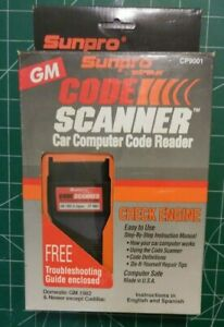 Sunpro Actron Code Scanner Gm Cars