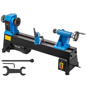 10 In X 18 In 5 Speed 1 2 Hp Cast Iron Benchtop Wood Lathe Diy Hobby Tool