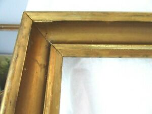 Antique Fits 16 X 20 Gold Picture Frame Wood Fine Art Country Gesso Primitive