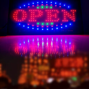 Ultra Bright Flashing Illuminated Led Open Light Business Sign Outdoor Store Bar