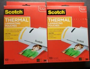 Lot 8 Thermal Laminating Pouches 5 X7 Inches Scotch Photo Size 200 Pouches Total