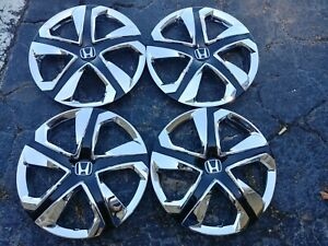 15 Chrome Black Hubcaps Wheelcovers For Honda Civic Honda Fit 4 Brand New
