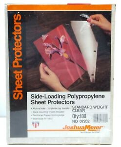 Joshua Meier 100 Side Loading Polypropylene Sheet Protectors 11 X 8 5 Sealed