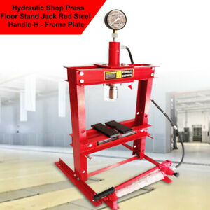 10t Shop Equipment Press Hydraulic Jack Stands Stroke 178mm Red Automotive Tool