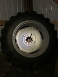 2 goodyear Tractor Tires 18 4x38 And Unverferth Rims 9 lug