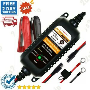 Automatic New Battery Charger Maintainer Tender 12v 800ma Motorcycle Atv Boat