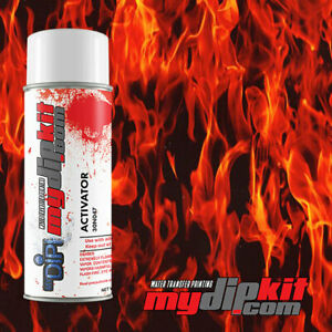 Hydrographics Activator Hydro Dipping Transfer Film Combo True Flame Ll 135