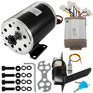 48v Dc Electric Motor Gear Reduction 1kw 4pcs Kit Controller 11tooth Sprocket