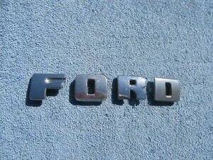 Original 1948 1949 1950 Ford F100 Truck Upper Grille Letters