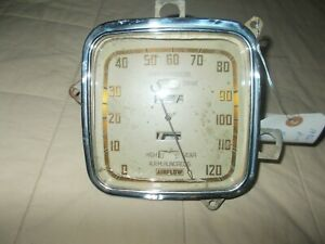 Vintage 1930 s Chrysler Airflow Speedometer W Overdrive High Gear Indicators