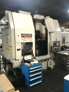 98 Okuma Howa Vtl 45m C Axis One Spindle Twin Turret Vertical Boring Mill Fanuc
