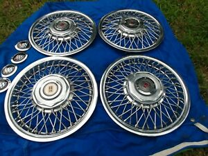 14 Oldsmobile Ciera Factory Wire Spoke Hubcaps Wheelcovers 4 87 96 Great Used