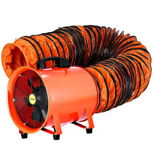 12 Extractor Fan Blower Portable W 5m Duct Hose Ventilator Industrial Air Mover