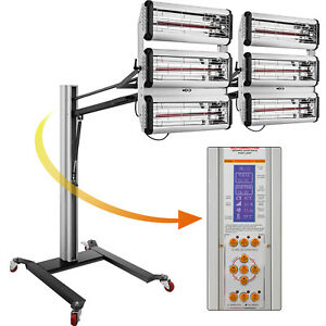 Baking Infrared Paint Curing Lamp 6kw Heater Heating Light Spray Booth W Led
