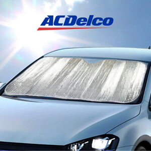 Acdelco Premium Foldable Windshield Sunshade Visor Uv Protection Car Truck Suv