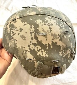 GENUINE US ARMY SDS ACH MICH LEVEL IIIA HEL MET WITH ACU COVER MEDIUM LARGE $325.00