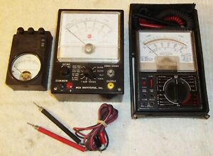 Rca Institutes Micronta 22 204u Weston 689 Vintage Volt Ohm Meter Lot