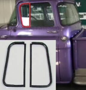 Vent Window Glass Seals Rubber Weatherstrip Kit For 1955 1959 Chevy Gmc Trucks