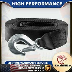 Marine Boat Trailer Winch Strap With Hook Replacement 2 x20 And 4500 Lbs Usa