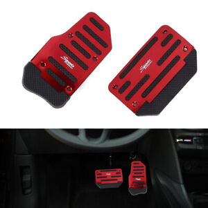 Universal Red Non Slip Automatic Pedal Brake Foot Treadle Cover Accessories Kit