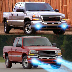 For Gmc Sierra 1500 2500 Hd 2003 2006 2x 8000k Lamp Led Fog Light Bulbs Kit