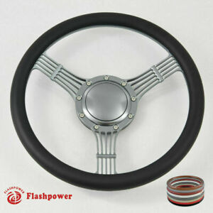 15 5 Billet Banjo Steering Wheel Black Full Wrap Chevy Gmc Ford W Horn