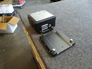 Wentworth Labs Pmm hp Mitutoyo Microscope Base Mount Linear Scale 5 1 2 X 5 1 2
