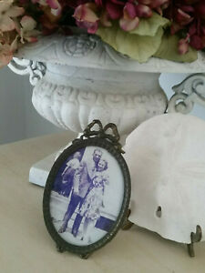 Vintage Style Oval Ornate Picture Frame 6 X 3 5 Victorian Bow Made In Italy