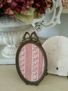 Vintage Style Oval Ornate Picture Frame 7 25 X 4 Victorian Bow Made In Italy