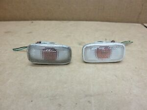 90 02 Infiniti G20 Clear Front Fender Side Marker Light Set