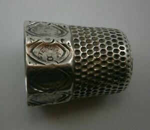 Size 8 Sterling Silver Thimble With With Paneled Edge By Simons Brothers Co Phi
