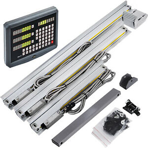 3 Axis Digital Readout Dro 250 450 500 Mm 10 17 7 20 Precision Linear Scale