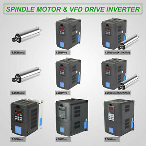 Spindle Motor Vfd Variable Frequency Drive Water Cooled Cnc 1 5kw 7 5kw Good