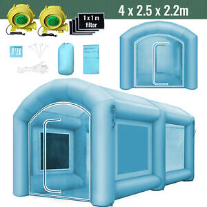 Inflatable Giant Spray Paint Booth Workstation Tent 4 2 5 2 2m Waterproof 2fan