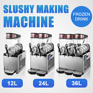 Vevor Commercial Slush Machine Frozen Drink 12l 24l 36l Juice Beverage Ice Maker