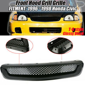 Front Hood Grill Grille Abs For 96 98 Honda Civic Ek Jdm Cx Dx Ex Hx Lx T R