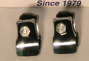 1928 1931 Model A Ford Stainless Steel Front License Plate Clamp Set