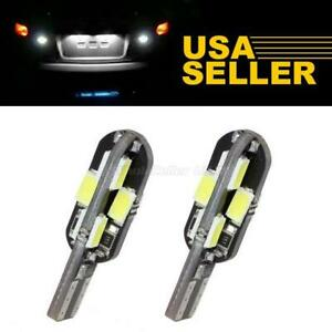 2x White 194 168 T10 Wedge Error Free Led Bulbs License Plate Lights For Bmw