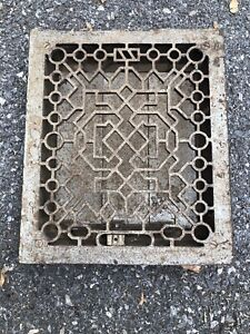 Vintage Metal Vent Grate Cover Heat Wall Floor Return Register Louver