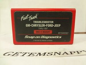 Snap On 1997 Domestic Troubleshooter Cartridge Mt2500 Mtg2500 Scanner Nice